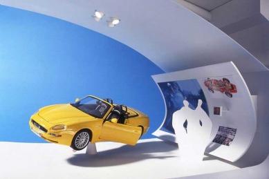 Enzo Ferrari Museum - Model interiéru expozice - foto: Future Systems