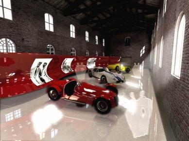 Enzo Ferrari Museum - Vizualizace interiéru rekonstruované haly - foto: Future Systems