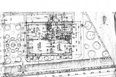Rekonstrukce vily Na Skalce - Půdorys původního přízemí - foto: archiv autorky