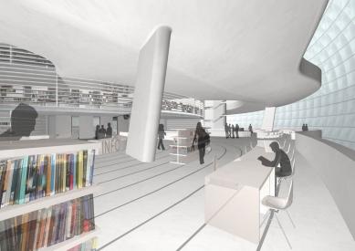 Soutěžní návrh na Národní knihovnu ČR - 3. cena - Interiér - foto: HŠH architekti