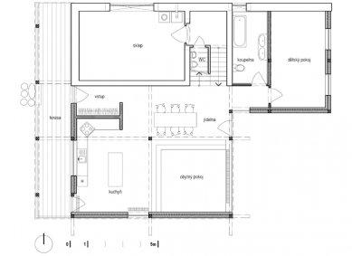 """Dřevěný dům """"na louce"""" - 1NP"""