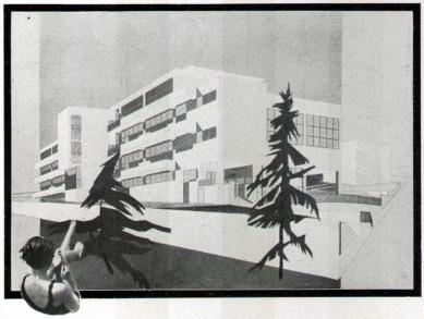 Městské lázně - Perspektivní pohled - foto: archiv redakce