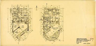 Tesařova vila - Půdorysy - foto: Kopie originálních plánů architekta Fuchse byly poskytnuty Muzeem města Brna