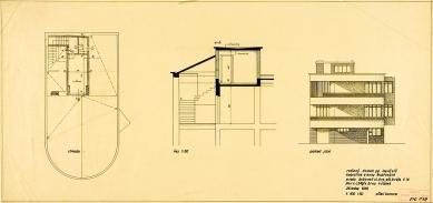 Tesařova vila - Výkres střechy - foto: Kopie originálních plánů architekta Fuchse byly poskytnuty Muzeem města Brna