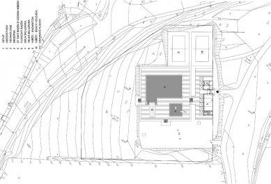 Koupaliště v Mokré – rekonstrukce požární nádrže - Situace - foto: archiv DIMENSE