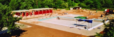 Koupaliště v Mokré – rekonstrukce požární nádrže - foto: archiv DIMENSE