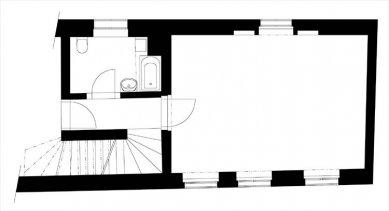 Rekonstrukce bytu ve Valdštejnské ulici - Původní stav - 2. patro - foto: autorky