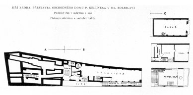 Přestavba velkoobchodu Pavla Gellnera - Suterén - foto: archiv redakce