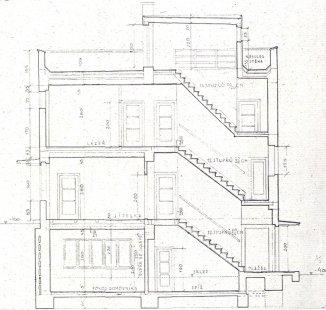 Rodinný dům prof. Dr. J. Kudely - Řez - foto: archiv redakce
