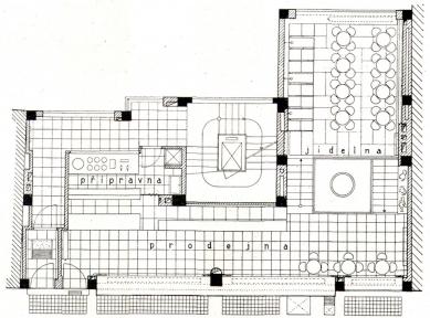 Nájemný dům s cukrárnou B. Kolbaby - Půdorys přízemí - foto: archiv redakce