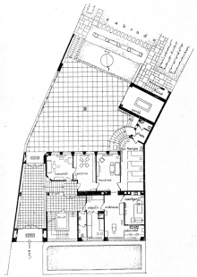 Sanatorium MUDr. V. Šilhana - Půdorys přízemí - foto: archiv redakce