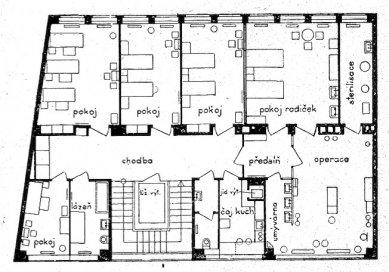 Sanatorium MUDr. V. Šilhana - Půdorys 1. patra - foto: archiv redakce