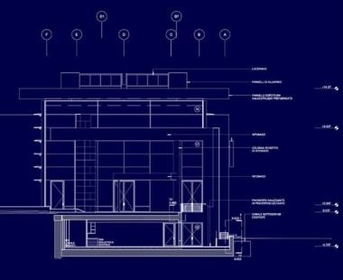 Museo dell'Ara Pacis - Řez - foto: © Richard Meier & Partners Architects LLP