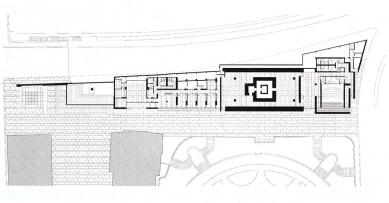 Museo dell'Ara Pacis - Půdorys spodního patra - foto: © Richard Meier & Partners Architects LLP