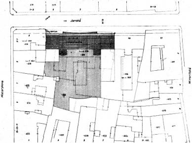Administrativní a nájemný dům První Moravské Spořitelny - Situace - foto: archiv redakce