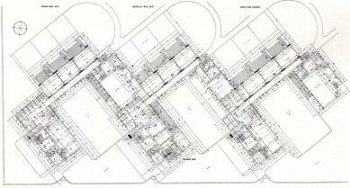 Pavilonové školy Přerov - Návrh: půdorys - foto: archiv redakce