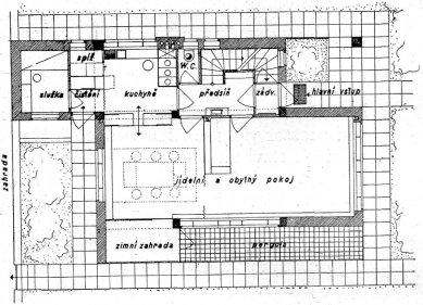 Návrh rodinného domu PhMr. R. Svobody - Půdorys přízemí - foto: archiv redakce