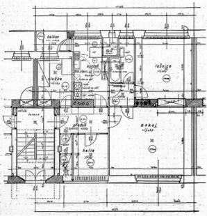 Masarykova kolonie bankovních úředníků v Košičích - Půdorys dvoupokojového bytu - foto: archiv redakce