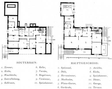 Vila Münz - Půdorysy - foto: archiv redakce