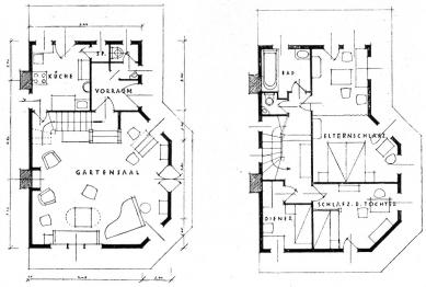 Dřevěný zahradní domek - Půdorysy - foto: archiv redakce