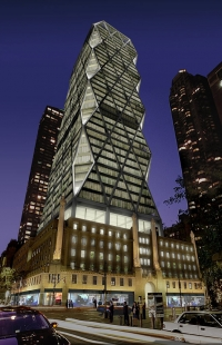 Hearst Tower - Noční vizualizace - foto: © Foster and Partners