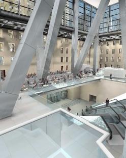 Hearst Tower - Vizualizace lobby - foto: © Foster and Partners