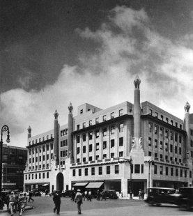 Hearst Tower - Historická fotografie sevrozápadního nároží stavby