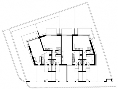 Bytový dům V Zálesí v Praze 5 - Situace - foto: © hnilička — císler — architekti