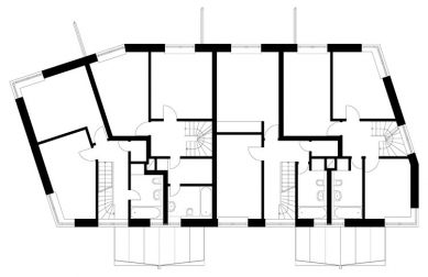 Bytový dům V Zálesí v Praze 5 - 2NP - foto: © hnilička — císler — architekti