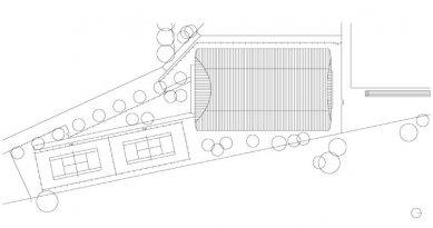 Tenisový areál Krnov - Situace - foto: ATX architekti