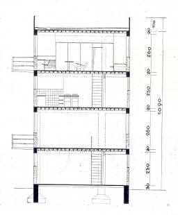 Soutěž na obecní domy s malými byty - Příčný řez - foto: archiv redakce