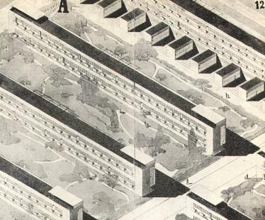 Soutěž na obecní domy s malými byty - Axonometrie - foto: archiv redakce