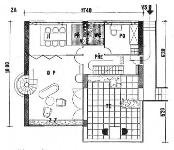 Rodinný dům v Louňovicích - Půdorys přízemí - foto: archiv redakce