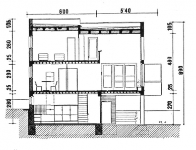 Rodinný dům v Louňovicích - Řez domem - foto: archiv redakce