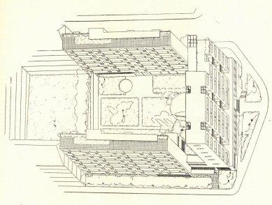 Soutěžní návrh pro kolektivní dům družstva Včela - axonometrie - foto: archiv redakce