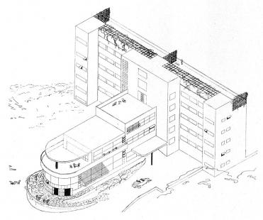 Lázeňský dům zvaný Machnáč - Axonometrie - foto: archiv redakce