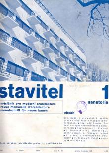 Lázeňský dům zvaný Machnáč - Titulní strana časopisu Stavitel - foto: archiv redakce
