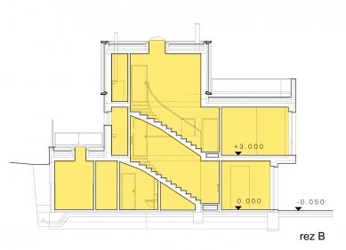 Obytný komplex Slanec - Rohový dom - rez - foto: VSArchitects