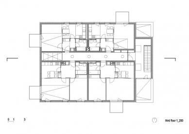 Social Housing Polje - Půdorys patra - foto: bevk perović arhitekti