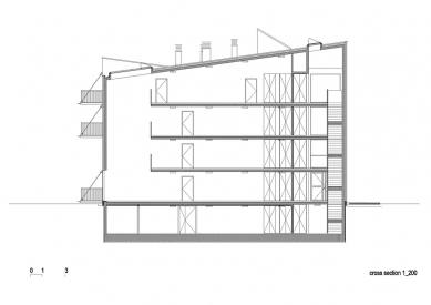 Social Housing Polje - Řez - foto: bevk perović arhitekti