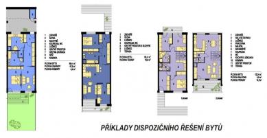 Polyfunkční dům Lučina - Dispoziční varianty - foto: K4