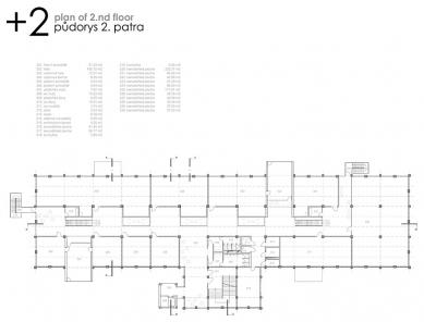 Podnikatelské inovační centrum Zlín - Půdorys 2. patra - foto: © Ing.arch. Pavel Mudřík