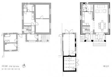 Rekonstrukce rodinného domu, Praha 6 - Přízemí - foto: Atelier K2