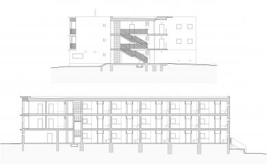 Bytový dům se startovními byty - Řezy