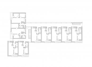 Bytový dům se startovními byty - Půdorys 3NP