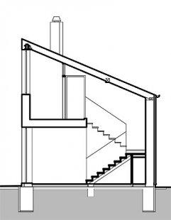 Rodinný dům v Poříčí nad Sázavou - Řez - foto: New Work