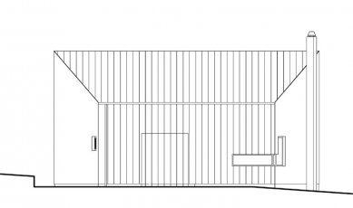 Rodinný dům v Poříčí nad Sázavou - Západní pohled - foto: New Work