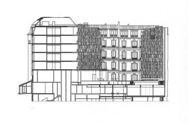 Hôtel Fouquet's Barrière - Řez hotelem - foto: © edouard françois architect
