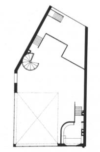 Maison et atelier Ozenfant - Půdorys ateliéru - foto: Petr Šmídek, 2007