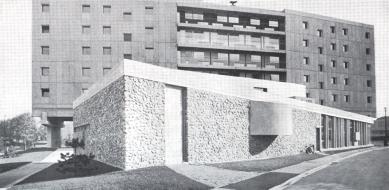 Maison du Brésil - Historický snímek západní fasády.
